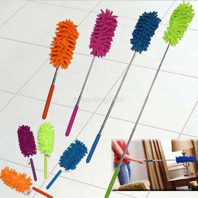 US Telescopic Duster Extendable Microfiber Dust Cleaner Handle Home Car Cleaning