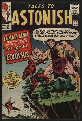 Tales To Astonish #58 Giant Man & Wasp Vs Colossus! 1964 Nice Pages  Great Value