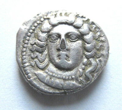 Stater of Satrap Datames from Cilicia       Rv. helmeted head of Ares right