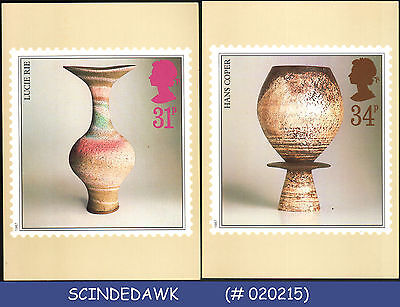 GREAT BRITAIN - 1987 STUDIO POTTERY - PHQ CARDS - MINT 4nos