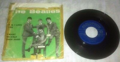 Beatles P.s.i Love You/i Want To Hold Your And Qmsp16351 Italy 7'