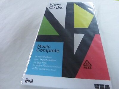 New Order - Music Complete !!!!!!!!!!!plv / Display 14 X 25 Cm