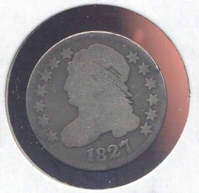 1827 Capped Bust silver dime. G.