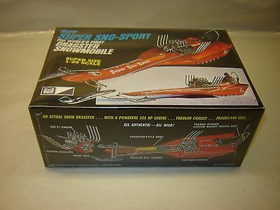 MPC 701 Rupp Super Sno-Sport Dragster Snowmobile 1/20 Sealed As Pictured