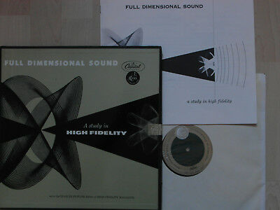 Full Dimensional Sound - A Study in High Fidelity.   Capitol SAL 9020