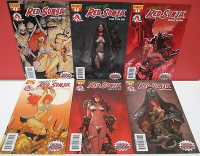 SWORD Of RED SONJA 'Doom Of The Gods' #1ABC, #2ABC NM LOT -2007 Dynamite
