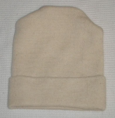 Case of 280 Each NEW PREEMIE BABY HOSPITAL HAT BLANK UNBLEACHED COTTON USA MADE