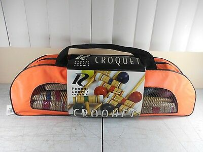 NEW  Regent 6 Person Croquet Game with Carrying Case NEW in Carry Case