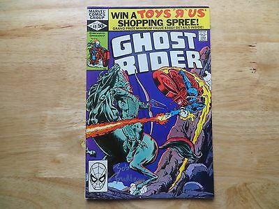Bronze Age 1980 Marvel Comics Ghost Rider # 49 Signed By Bob Budiansky With Poa