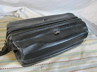 VINTAGE-Chicago TOP GRAIN COWHIDE LEATHER- TOILETRY BAG - DOPP KIT -  USA  #4