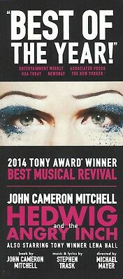 HEDWIG AND THE ANGRY INCH with JOHN CAMERON MITCHELL and LENA HALL on B'way