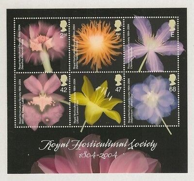 GB Stamps: Bicentenary of the Royal Horticultural Society MS 2462