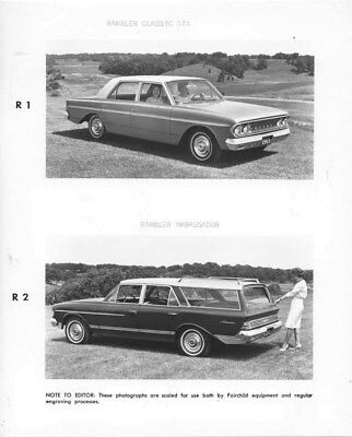 1963 Rambler Classic Six & Rambler Ambassador ORIGINAL Factory Photo oub8662