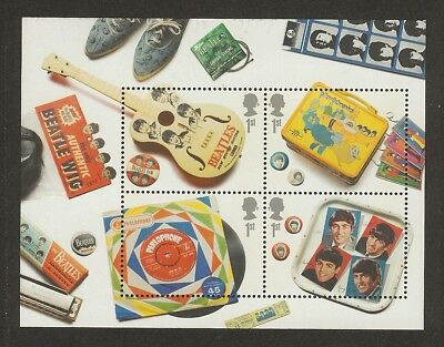 GB Stamps: The Beatles Miniature Sheet MS2692.