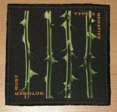 "TYPE O NEGATIVE ""OCTOBER RUST"" silk screen PATCH"