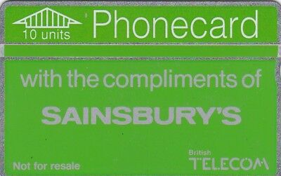 BT Phonecard, BTX001 10u Sainsbury's