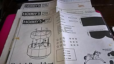 Hobby's Craft Woodworking plans for Musical items x 4
