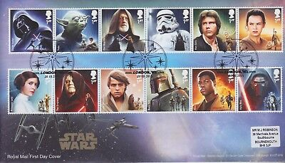 Gb Stamps First Day Cover 2015 Star Wars London W2 Rare Pmk Collection