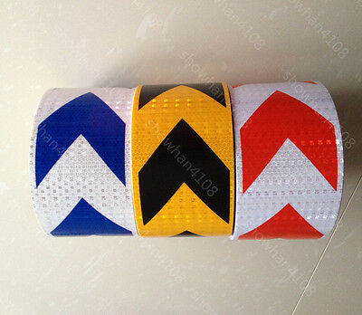 """Safety Arrow Reflective Self Adhesive Warning Tape Sticker 10cm 4"""" Width #"""