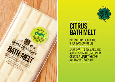 Our Tiny Bees Citrus Bath Melt Bar 80g. REDUCED TO CLEAR!