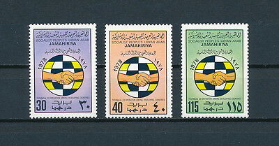 Libya  756-8 MNH, Technical Cooperation, 1978
