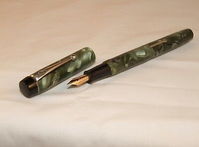Vintage Conway Stewart  Fountain Pen - The Mosley Pen - Green Pearl Mbl - C1938