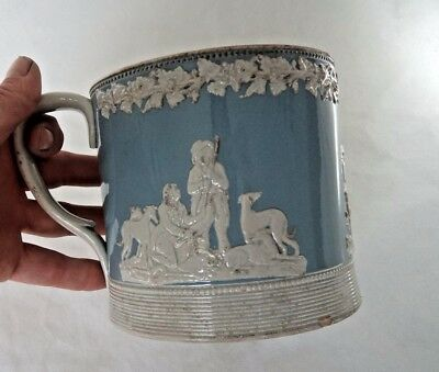 VICTORIAN c1850 SPODE WEDGWOOD STYLE LARGE CUP / TANKARD