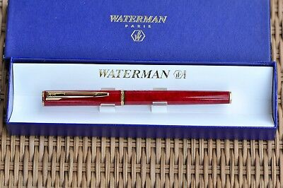 Waterman Apostrophe Rollerball, red marbled, gold trims, boxed, France, 2010