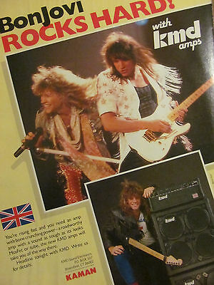 Bon Jovi, KMD Amplifiers, Full Page Vintage Promotional Ad