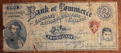 Two Dollar Bank Of Commerce Eastmans National Business College US Currency $2.00