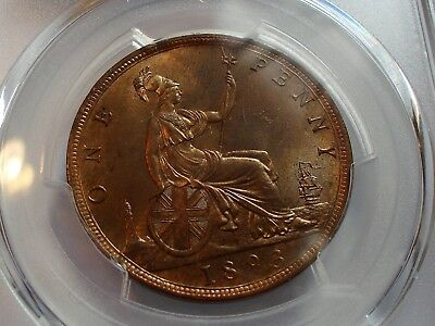 An Encapsulated &  Graded  PGCS MS64RB  1893 Victoria Penny!!!!