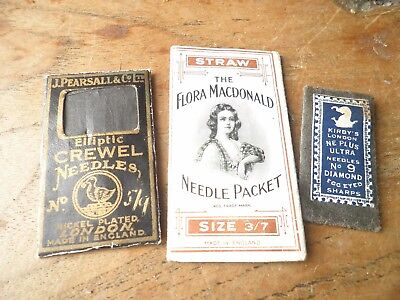 Three packets of vintage needles