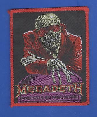 Megadeth Peace Sells vintage 1980s SEW-ON PATCH