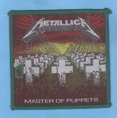 Metallica Master Of Puppets vintage 1980s SEW-ON PATCH
