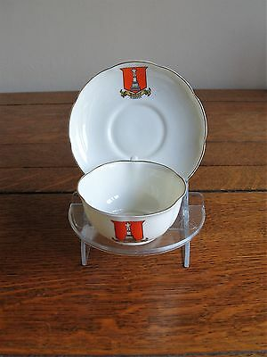 Commemorative Cup and Saucer -  Kinross - W H Goss Ware.