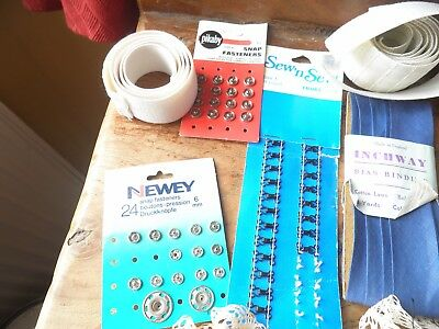 Vintage sewing bits and pieces, press studs etc