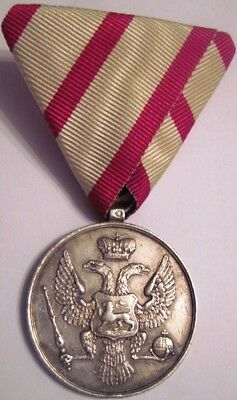 Montenegro early SILVER Bravery Medal , MARKED ! order , Serbia