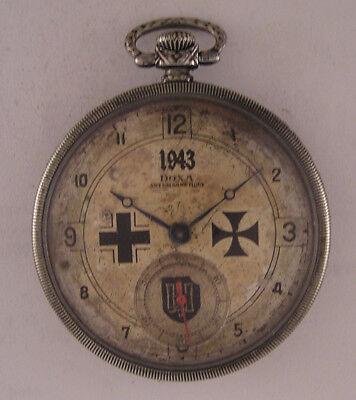 Just Serviced MILITARY WW2 Years DOXA LOCLE Swiss Hi Grade Pocket Watch A+