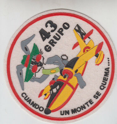 PATCH TORREJON AFB SPAIN FIRE FIGHTER 43rd GROUP CL-215  PARCHE
