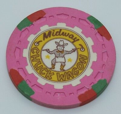 Midway Chuck Wagon Promotional Casino Chip San Diego California Sm-Crown Mold