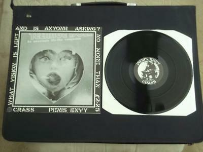 "Crass Penis Envy 1981 Uk Press 12"" Vinyl Record Lp With Poster Sleeve Ex/ex"