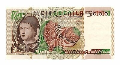 ITALY    -   great   note  AUNC  5,000 lirs  #105c   CAT. VAL. $60 !!!