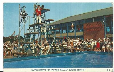 Butlins Holiday Camp Clacton  Campers Prepare For Swimming Gala C5 Pc