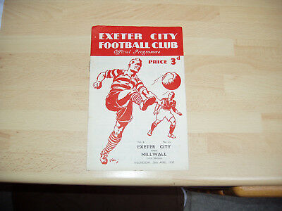 Exeter v Millwall Div 3 South 1949/50