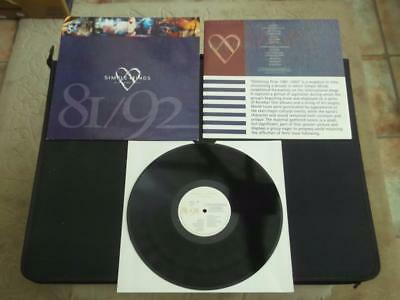 "Simple Minds Glittering Prize 81/92 1992 Uk Press 12"" Vinyl Record Album"