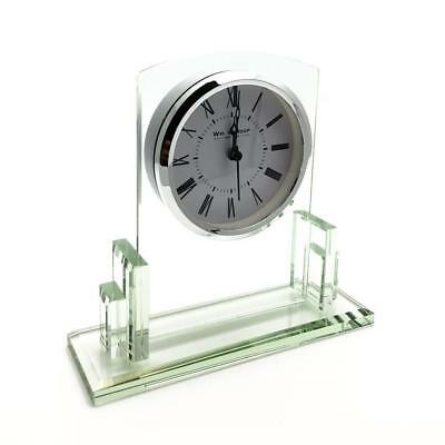 Art Deco Style Square Glass mantle clock W2812