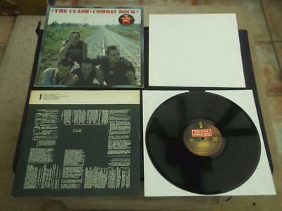 "The Clash Combat Rock 1982 Uk Press 12"" Vinyl Record Album With Poster"