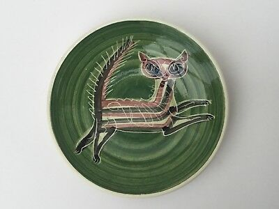 Isle of Wight Studio Pottery, Cat Pin Dish C1960/70s Hand Painted by Jo Lester