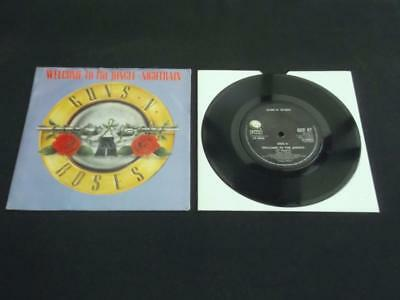 """Guns N Roses Welcome To The Jungle 1988 Uk Press 7"""" Vinyl Record Single"""