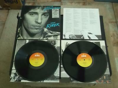 "Bruce Springsteen The River 2 X 12"" Vinyl Record Lp With Insert And Inners Ex/ex"